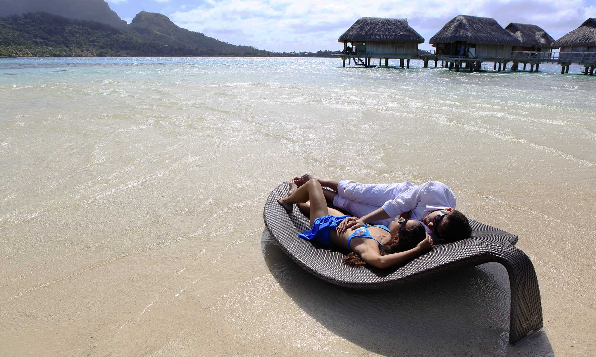 Sofitel Bora Bora Private Island, Beach Lounging