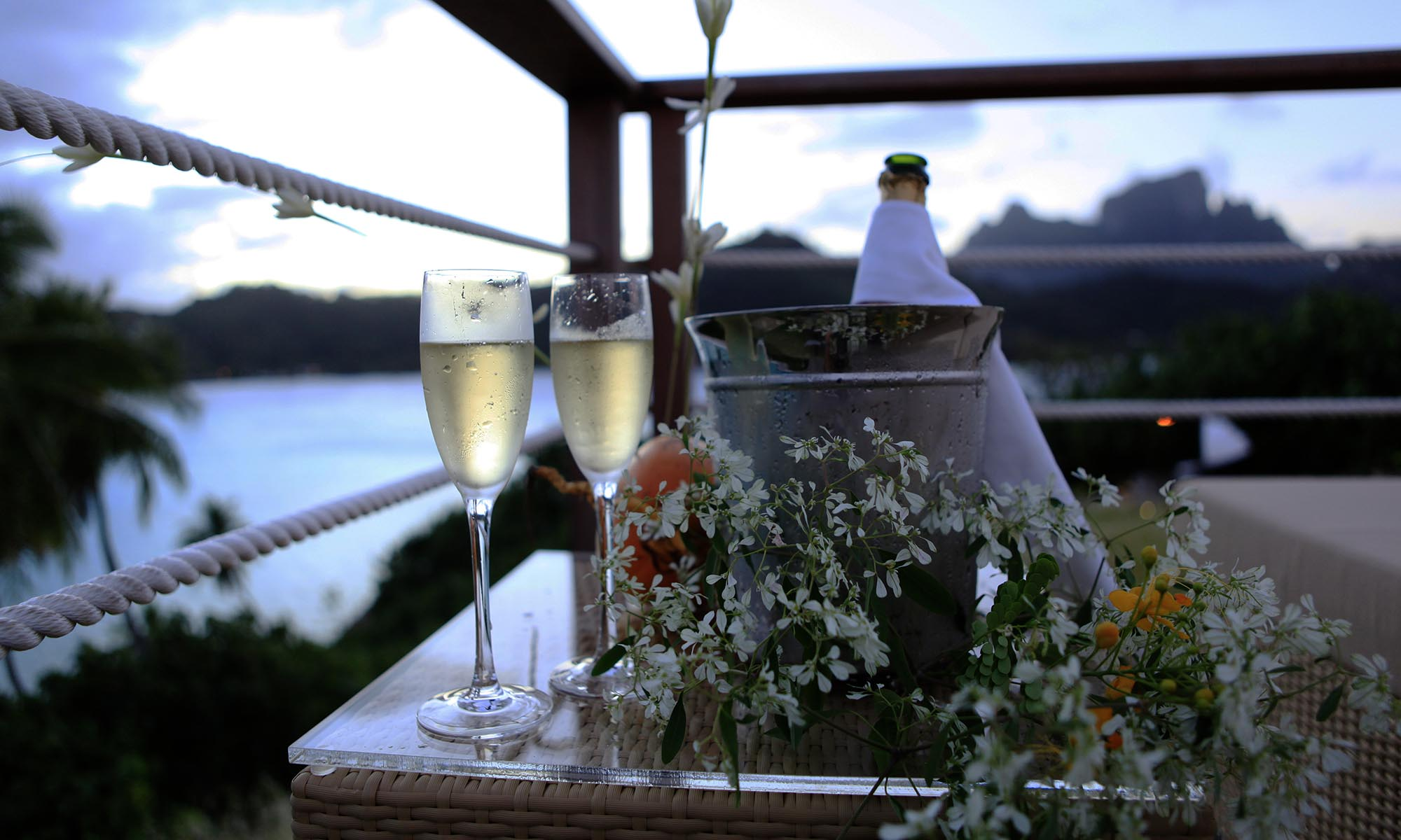Sofitel Bora Bora Private Island, Sunset and Champagne with a View