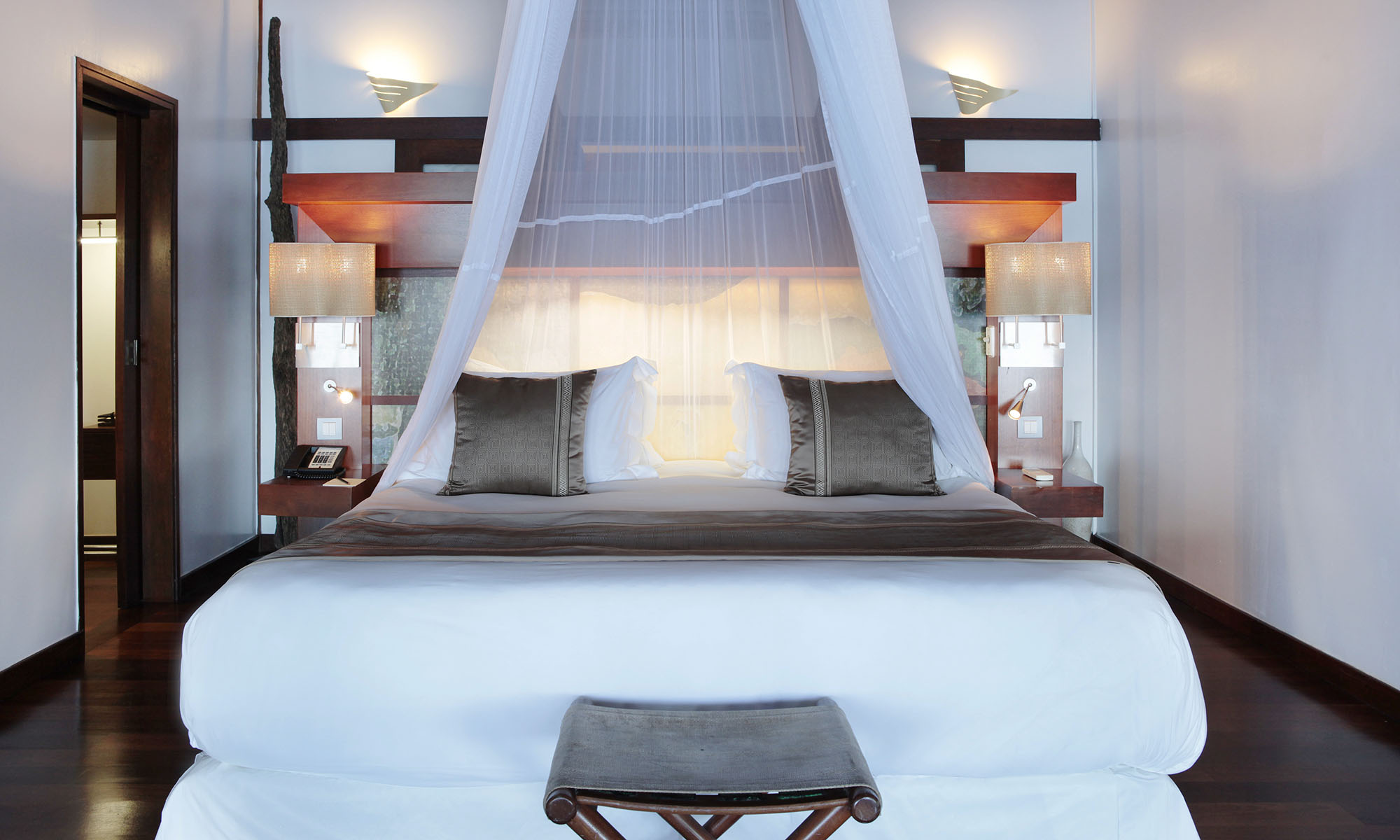 Sofitel Moorea Ia Ora Beach Resort, Two-Bedroom Beach Villa Bedroom