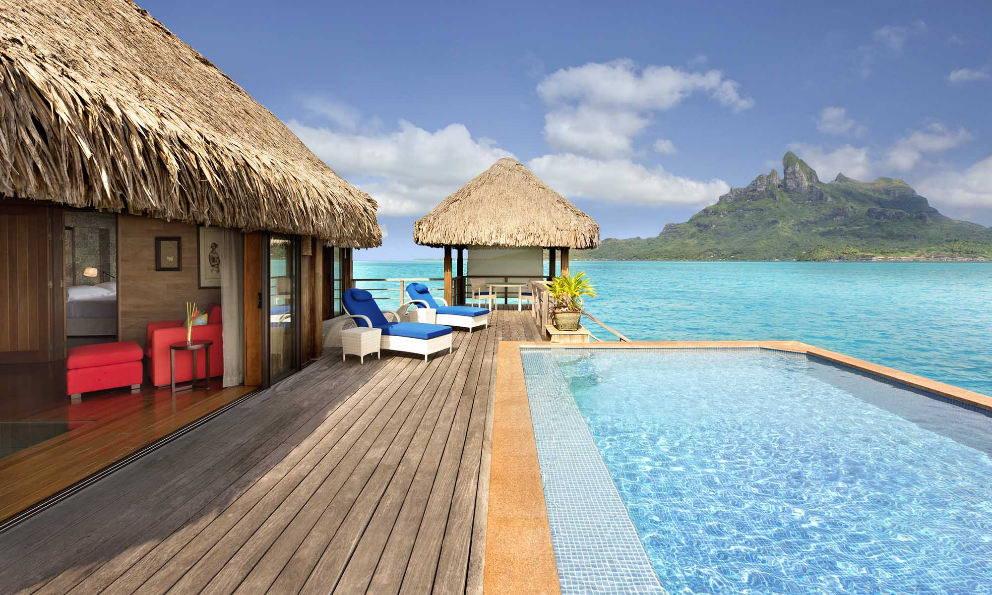 St Regis Bora Bora Resort, Overwater Royal Suite with Pool - Mt. Otemanu View