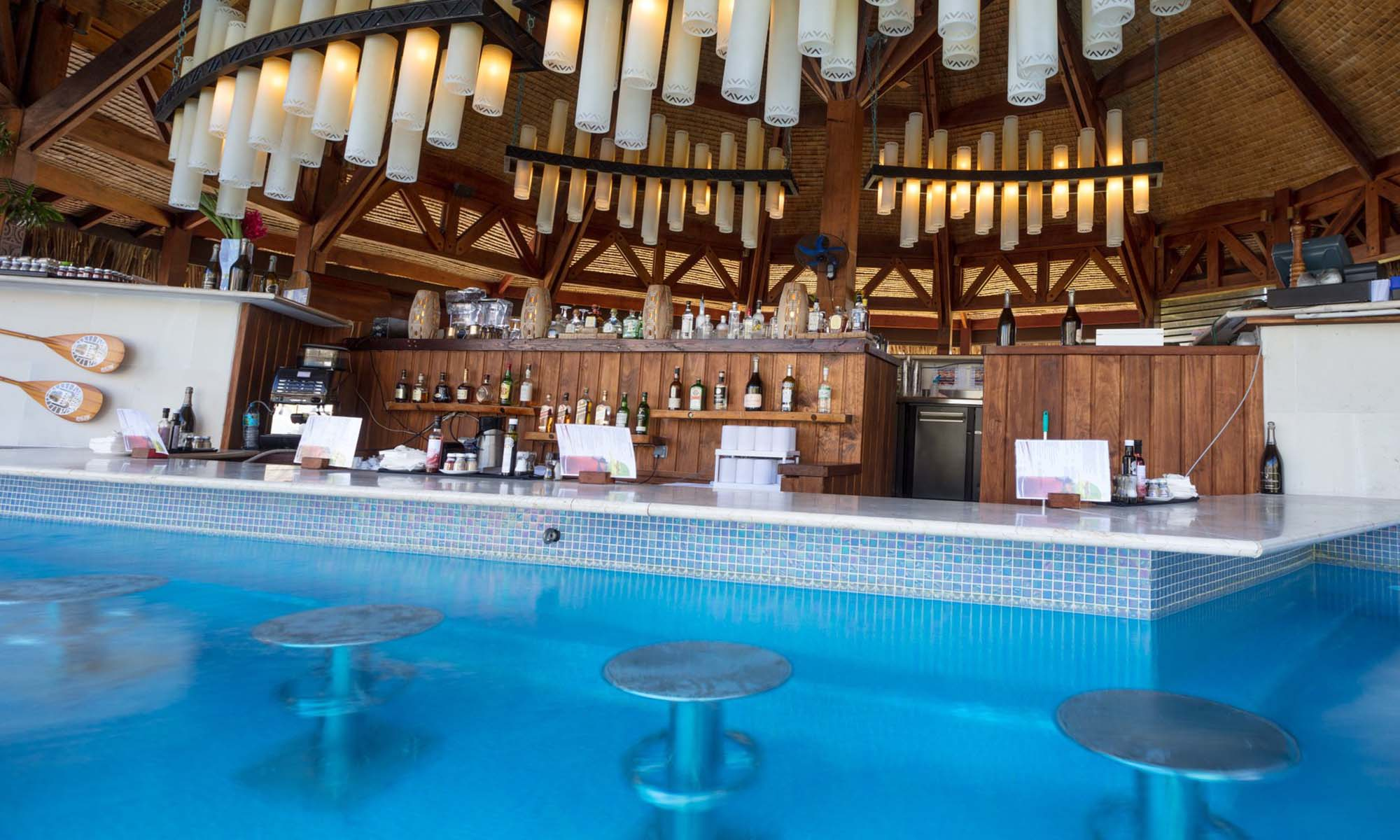 St Regis Bora Bora Resort, Swim-up Bar