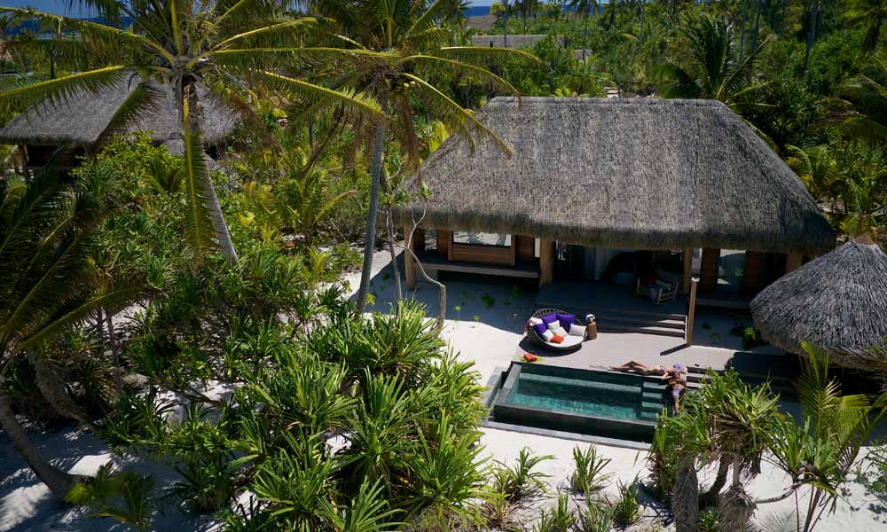 The Brando, Villa Aerial View