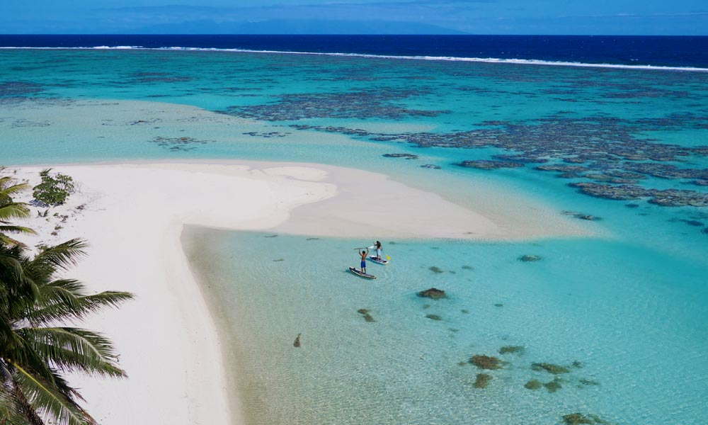 Tetiaroa, Aerial View of Beach