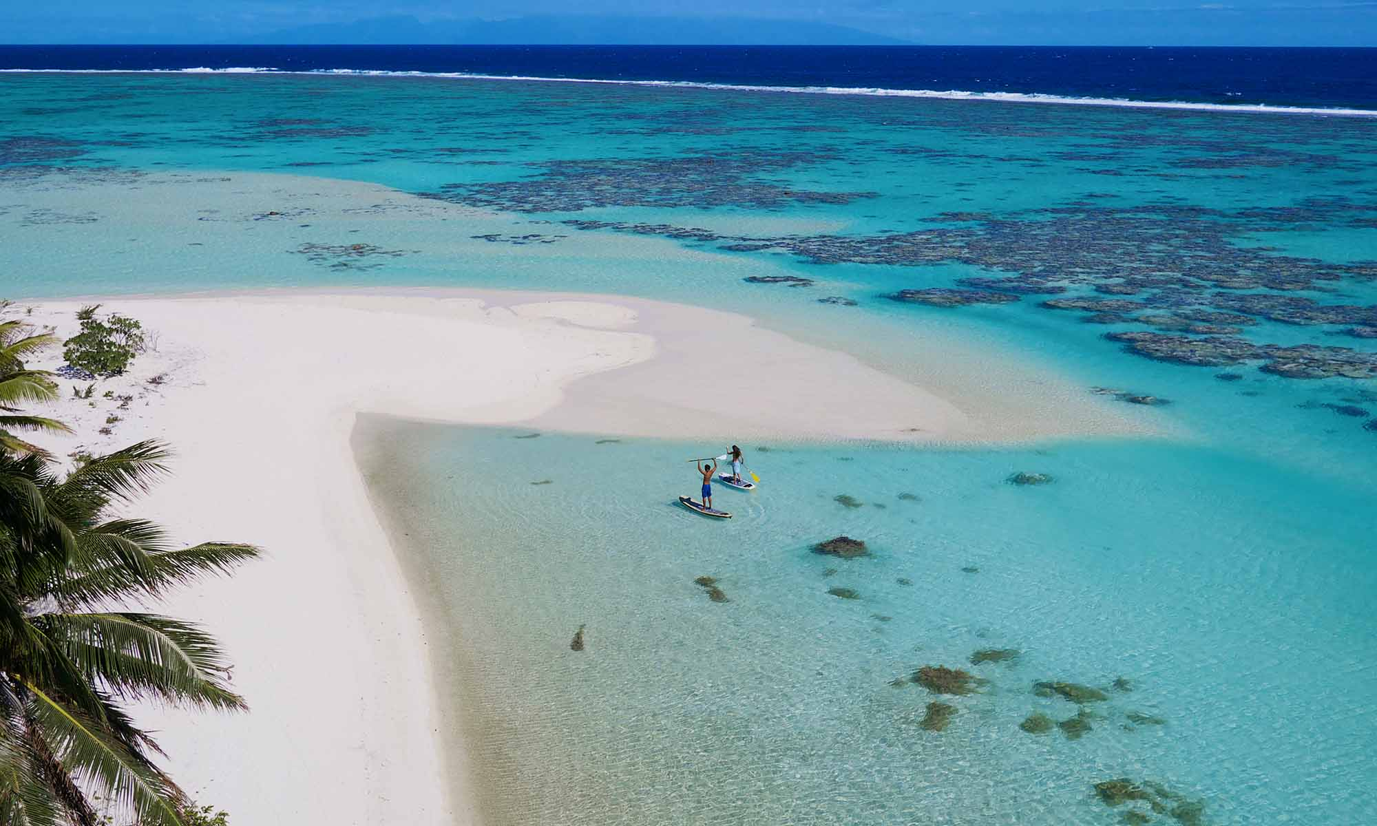 Paddleboarding on Tetiaroa