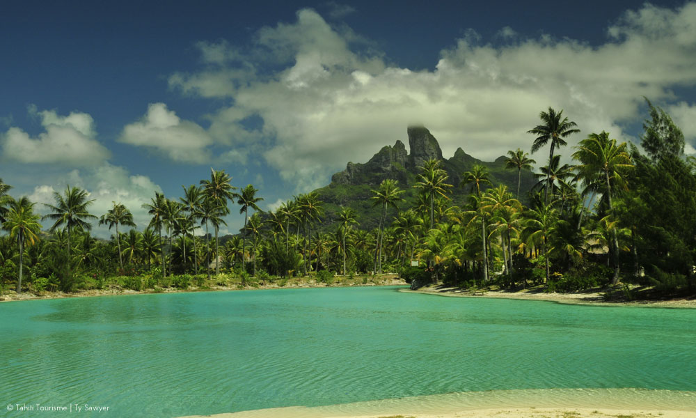 Across the lagoon from Mount Otemanu, Bora Bora