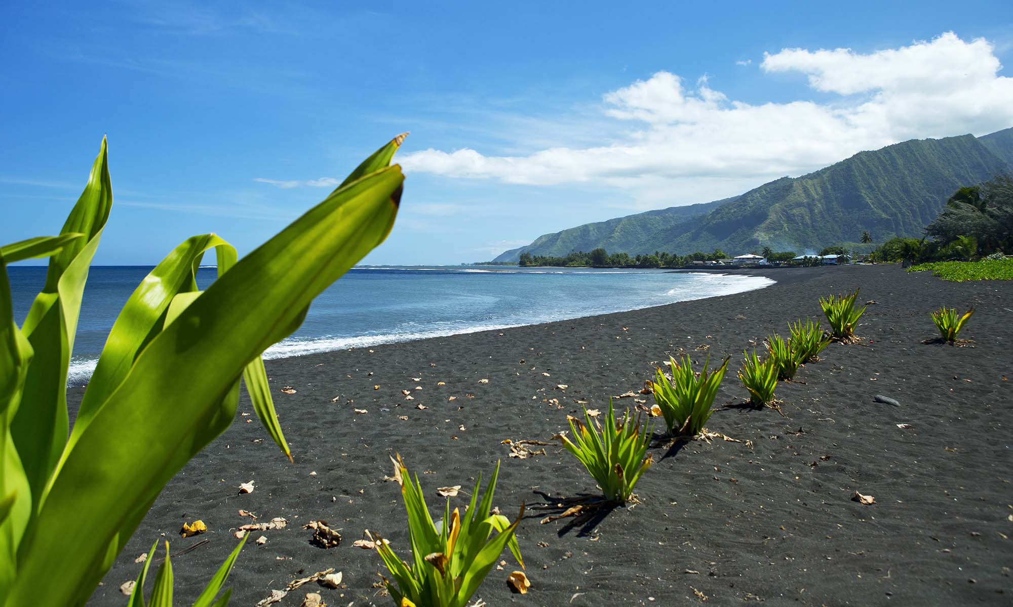Tahiti Black Sand Beaches