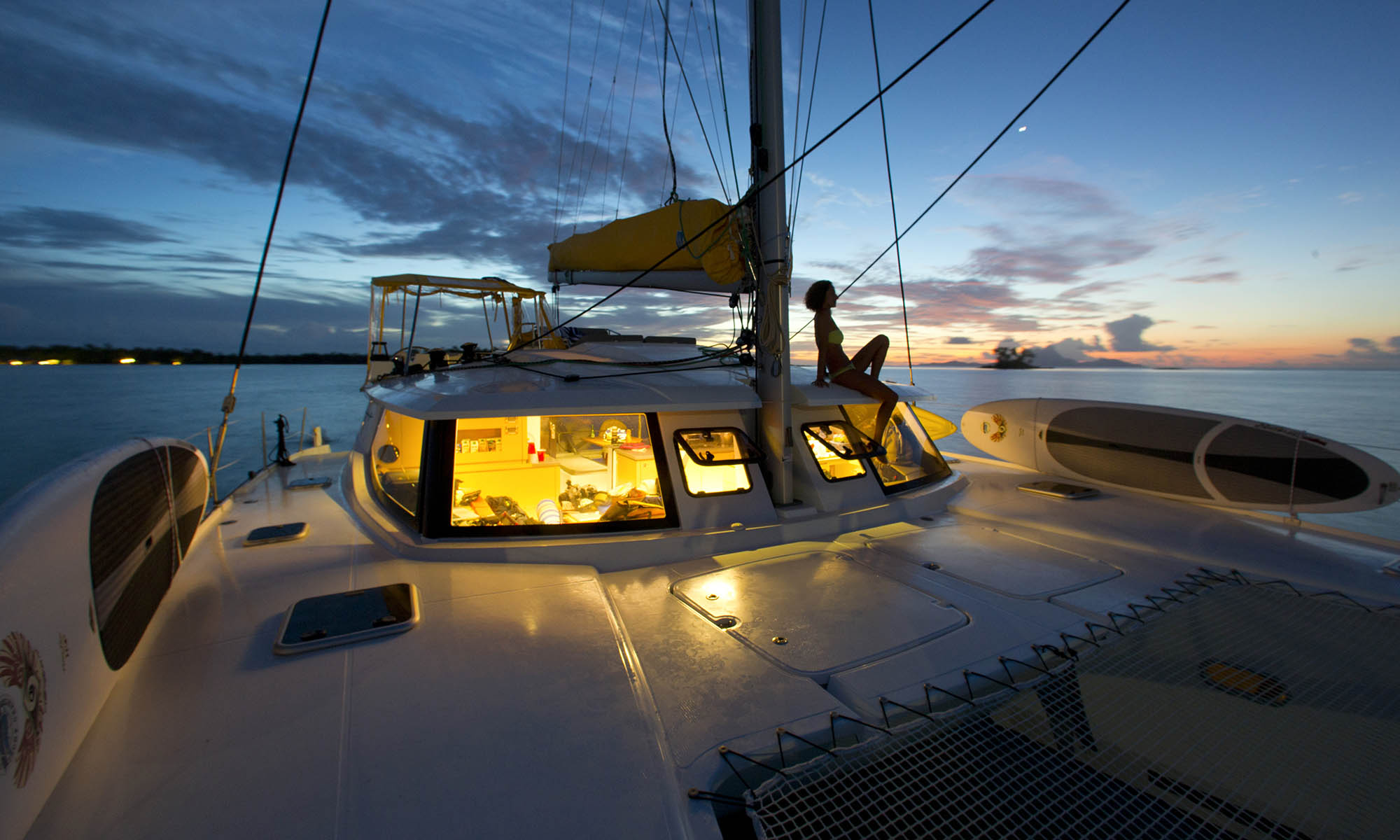 Tahiti Yacht Charter, Dusk Views