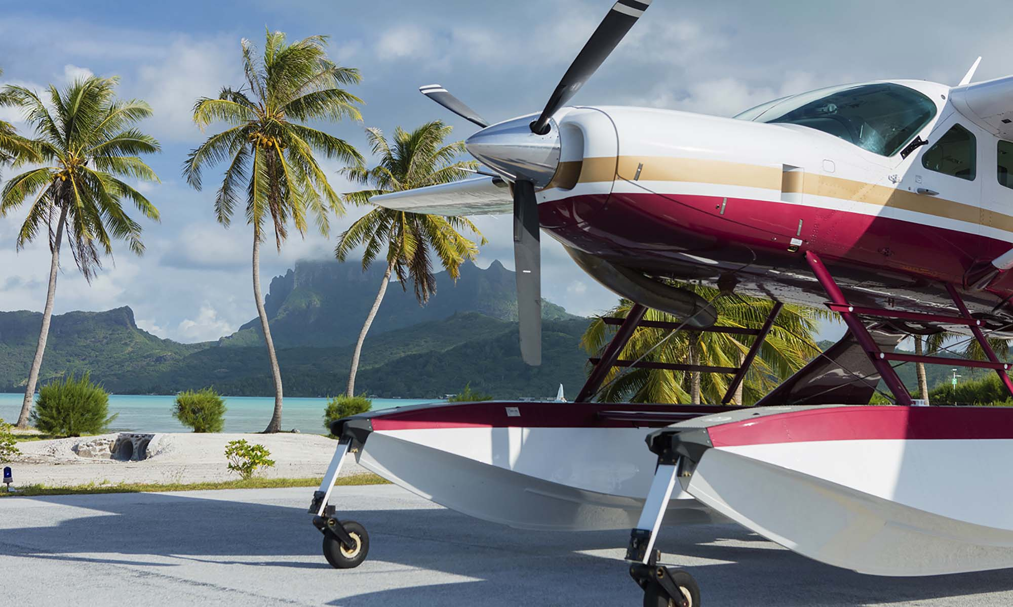 Seaplane Flight Over Bora Bora and Tupai