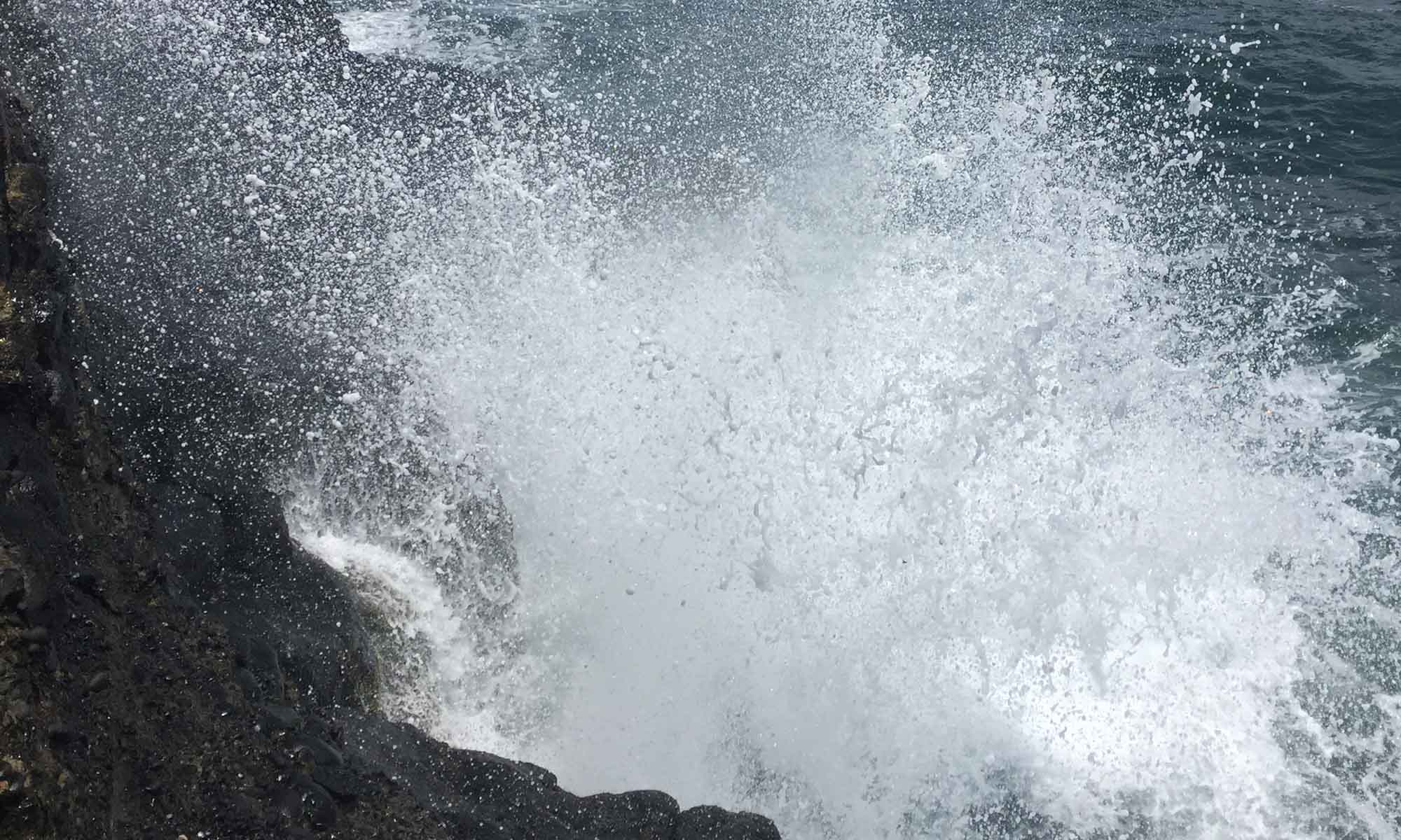 The Famous Blowhole on Tahiti
