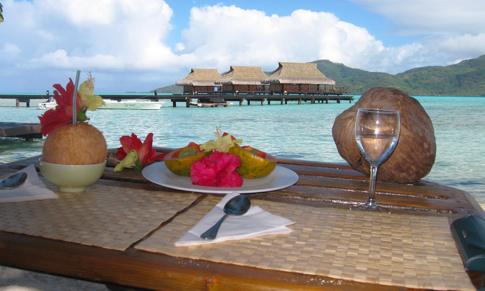 Vahine Island Resort, Restaurant View