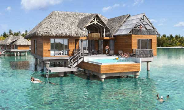 On Bedroom Overwater Brando Suite with Pool