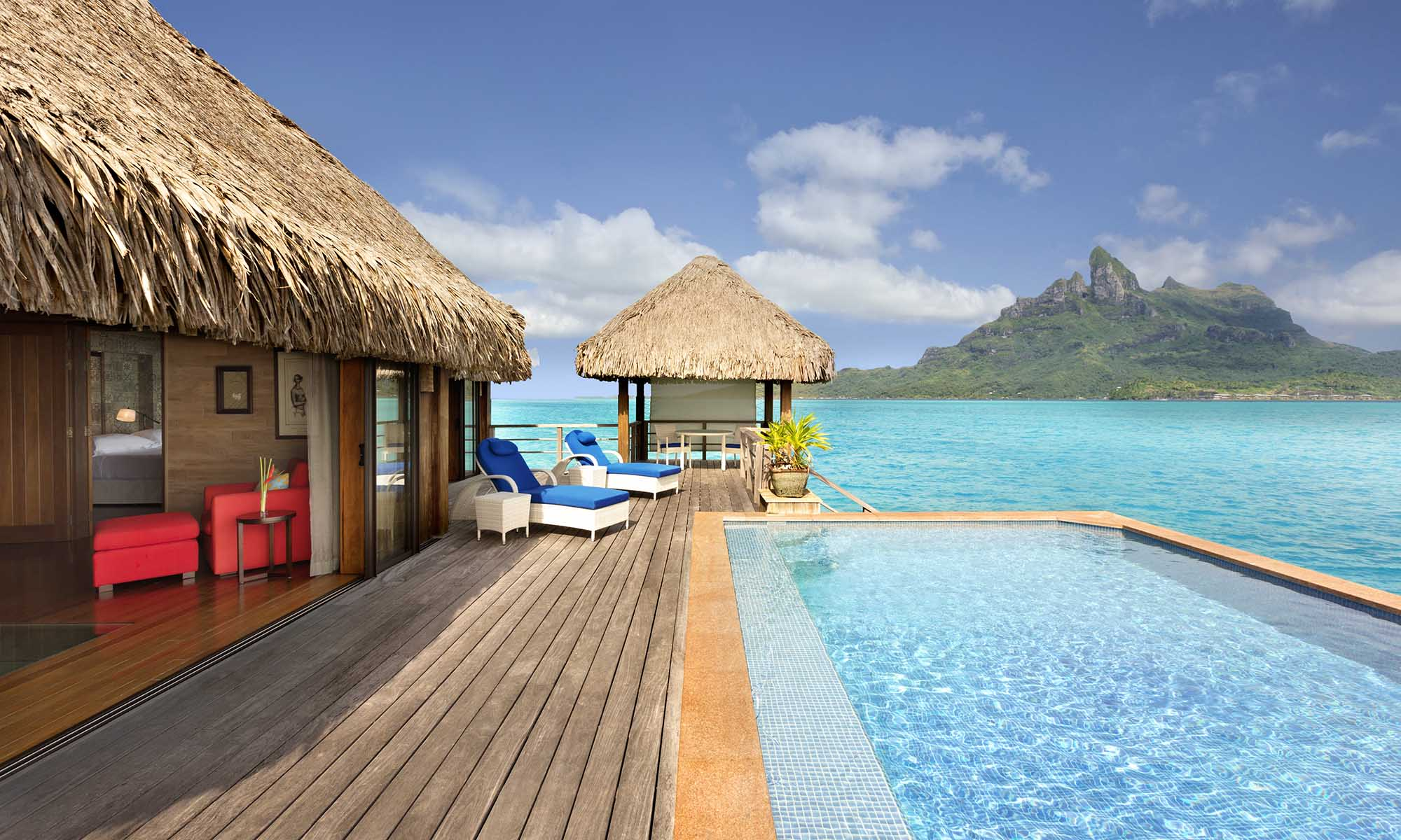 Two Bedroom Otemanu View Royal Overwater Villa with Pool