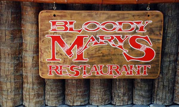 Dinner at Bloody Mary's