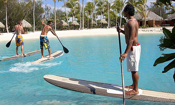 SUP Stand Up Paddle Board in Bora Bora