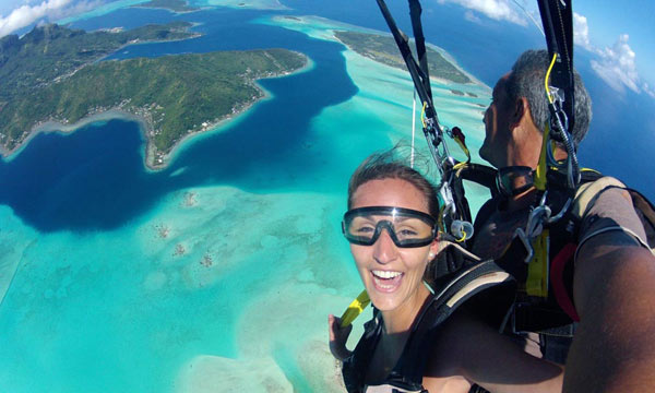 Bora Bora Skydiving VIP Honeymoon Package