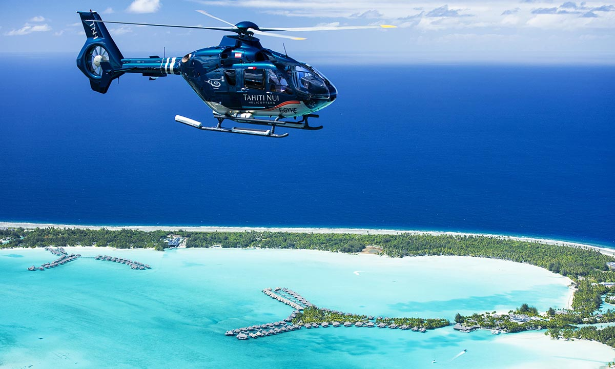 Shades of Blue Helicopter Tour of Bora Bora